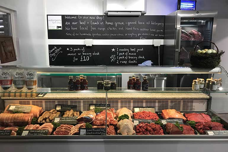 Meat rail options available